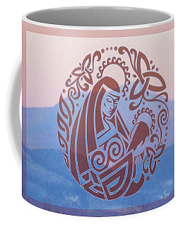 Celtic Madonna Over A Mountain Coffee Mug