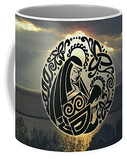 Celtic Madonna Over Sunset Coffee Mug