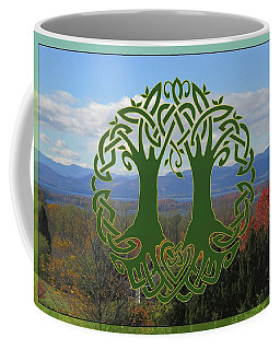 Celtic Wedding Tree In Green Coffee Mug