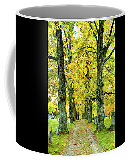 Coffee Mug featuring the photograph Cemetery Lane by Greg Fortier