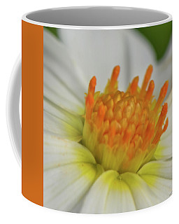 Coffee Mug featuring the photograph Centerpiece - White Dahlia 003 by George Bostian