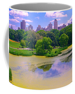 Central Park And Lake, Manhattan Ny Coffee Mug
