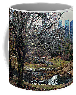 Coffee Mug featuring the photograph Central Park In January by Sandy Moulder