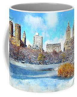 Central Park In Winter Coffee Mug by Kai Saarto