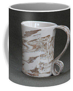 Ceramic Marbled Clay Cup Coffee Mug by Suzanne Gaff