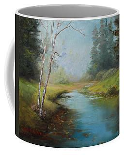 Cerulean Blue Stream Coffee Mug