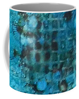 Coffee Mug featuring the painting Cerulean Dream Ink #23 by Sarajane Helm