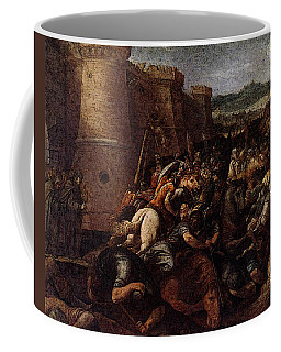 Cesari Giuseppe St Clare With The Scene Of The Siege Of Assisi Coffee Mug
