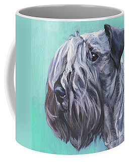Coffee Mug featuring the painting Cesky Terrier by Lee Ann Shepard