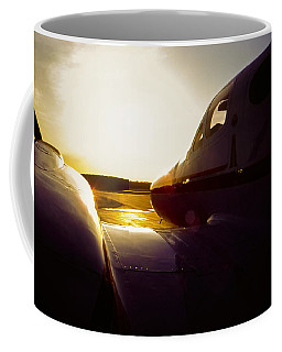 Cessna 421c Golden Eagle IIi Silhouette Coffee Mug