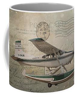 Cessna Skywagon 185 On Vintage Postcard Coffee Mug