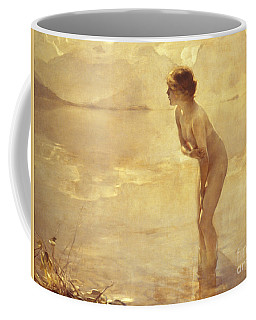Coffee Mug featuring the painting Chabas, September Morn by Paul Chabas