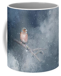 Chaffinch On A Cold Winter Day Coffee Mug
