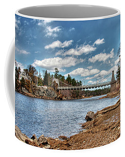 Chain Bridge On The Merrimack Coffee Mug
