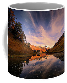 Chalet With An Autumn View Coffee Mug