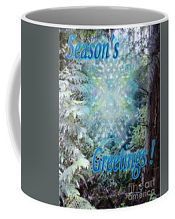 Chalice-tree Spirit In The Forest V3 Holiday Card Coffee Mug by Christopher Pringer