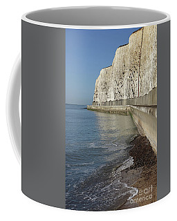 Chalk Cliffs At Peacehaven East Sussex England Uk Coffee Mug