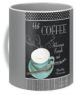 Coffee Mug featuring the painting Chalkboard Retro Coffee Shop 1 by Debbie DeWitt