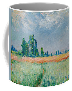 Coffee Mug featuring the painting Champ De Ble by Claude Monet