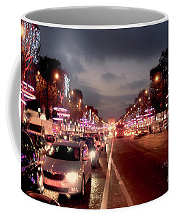 Champ Elysees Evening Glitter Paris Coffee Mug