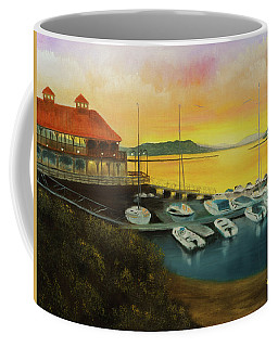 Coffee Mug featuring the painting Champs Sunset by Chris Fraser