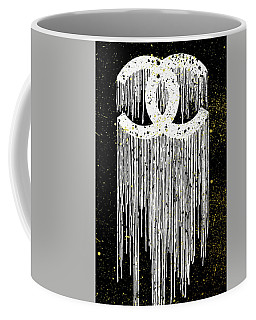 Chanel Logo Print With Gold Points Coffee Mug