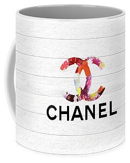 Chanel Floral On Wood Coffee Mug