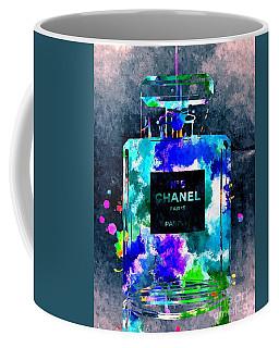 Chanel No 5 Dark Grunge Coffee Mug by Daniel Janda
