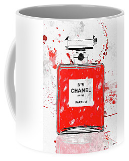 Chanel No 5 Red Coffee Mug