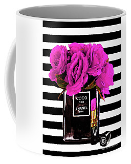 Chanel Noir Perfume With Flowers Coffee Mug