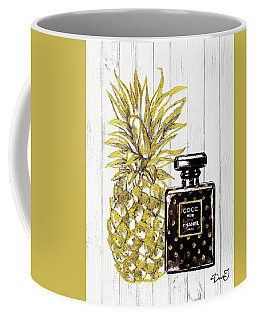 Chanel  Noir Perfume With Pineapple Coffee Mug