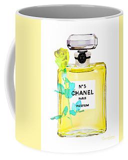 Chanel Perfume Nr 5 Yellow With Rose Coffee Mug