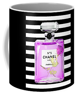Chanel Perfume On Stripes 3 Coffee Mug