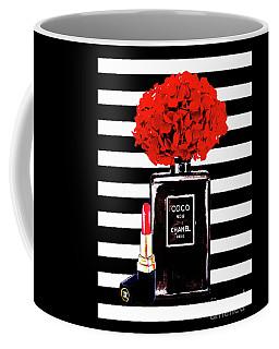 Chanel Poster Chanel Print Chanel Perfume Print Chanel With Red Hydragenia 3 Coffee Mug