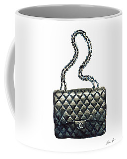 Chanel Quilted Handbag Classic Watercolor Fashion Illustration Coco Quotes Coffee Mug