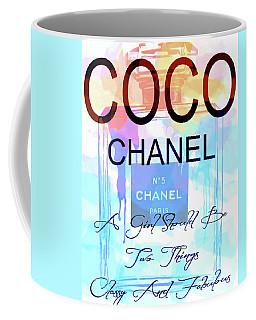 Chanel Watercolor Quote Coffee Mug