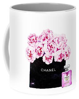 Chanel With Flowers Coffee Mug