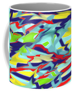 Chaos Into Form Blue Coffee Mug
