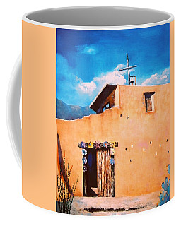 Coffee Mug featuring the painting Chapel In The Sun by M Diane Bonaparte