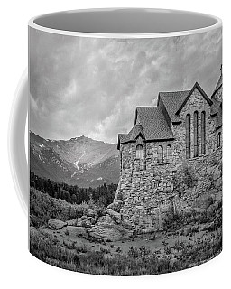 Chapel On The Rock - Black And White Coffee Mug