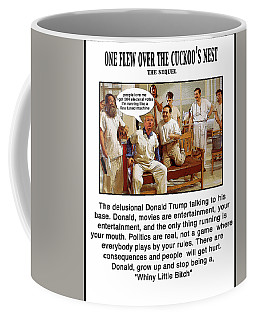 Chapter 8 One Flew Over The Cuckoos Nest Coffee Mug by Joe  Palermo