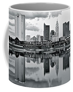 Charcoal Columbus Mirror Image Coffee Mug by Frozen in Time Fine Art Photography