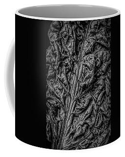 Chard Leaf In Black And White Coffee Mug