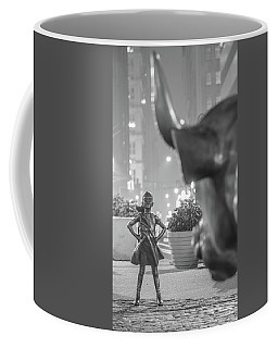 Charging Bull And Fearless Girl Nyc  Coffee Mug