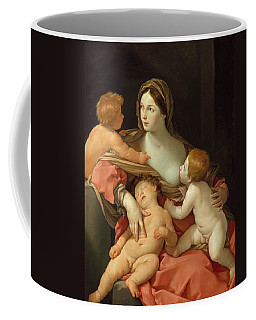 Coffee Mug featuring the painting Charity by Guido Reni