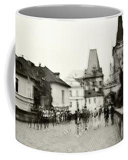 Coffee Mug featuring the photograph Charles Bridge. Black And White. Impressionism by Jenny Rainbow
