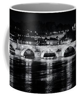 Coffee Mug featuring the photograph Charles Bridge Prague Night by Joan Carroll