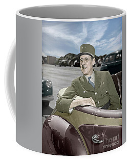 Charles De Gaulle Of France In New York Coffee Mug