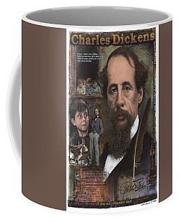 Coffee Mug featuring the mixed media Charles Dickens by John Dyess