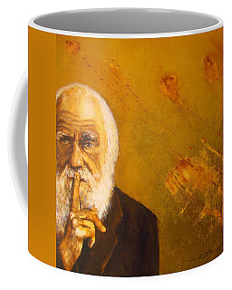 Coffee Mug featuring the painting Charles R. Darwin by Eric Dee